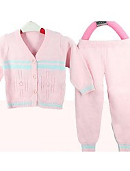 Girl's Casual/Daily Jacquard Clothing Set,Cotton Spring / Fall Green / Pink / Yellow