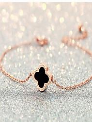 Gold Clover Chain Bracelet