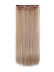 высокая термостойкость 24-дюймовый 18 / 613long прямо 5 клип расширение парики 16 доступных цветов