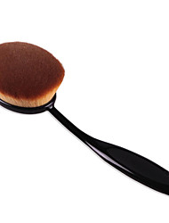 2016 Best Deal New Good Quality Women Big Oval Tooth Brush Foundation Makeup Brushes Loose Powder Brush 1PC