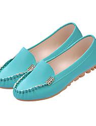женская обувь из кожзаменителя плоский комфорт каблук квартиры открытый / случайный черный / зеленый / розовый / белый