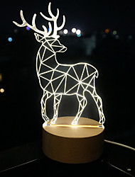 3 D  LED Vision Lamp Gift Atmosphere Desk Lamp  Little Dear Night Light
