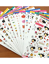 Birthday 10pcs Stickers Multi Color