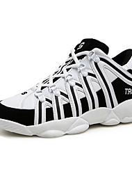 Unisex-Sneaker-Sportlich-PU-Flacher Absatz-Komfort-Schwarz Rot Weiß