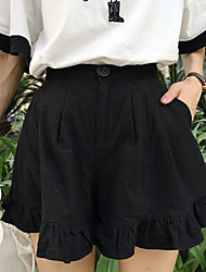 Women's Solid Shorts Pants,Simple
