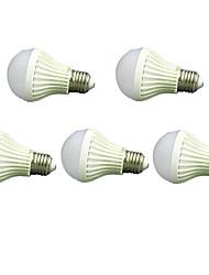 son blanc froid 5pcs 7w e27 de& lampe de contrôle de la lumière conduit ampoules intelligentes (220-240V)