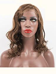 """10 """"-26"""" brasileiras do cabelo virgem 100% perucas do laço do cabelo humano cabelo ondulado perucas"""