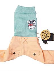 Katzen / Hunde Pullover Blau Hundekleidung Winter / Frühling/Herbst Britsh Urlaub