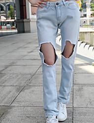 Damen Hose - Einfach Jeans Baumwolle Mikro-elastisch