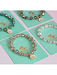 Bracelet Bracelets de rive Strass Forme Ronde Mode Quotidien / Décontracté Bijoux Cadeau Blanc / Bleu / Violet / Incarnadin,1pc
