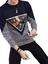 Autumn new sweater T-shirt male turtleneck sweater knit sweater Korean men's slim young men tide