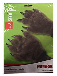 patte gants de Halloween de l'ours