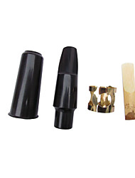 Professional Mouthpiece High Class Saxephone New Instrument Wood / Plastic Musical Instrument Accessories Black