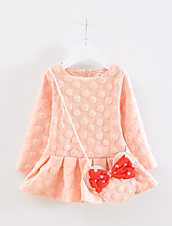 FanXingBeiYiGirl's Going out Polka Dot Dress / Overall & Jumpsuit,Cotton Spring / Fall Pink / Purple