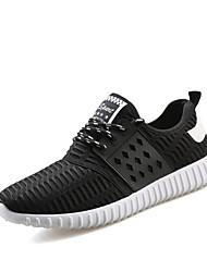Da uomo-Sneakers-Casual SportivoPiatto-Tulle-Nero Blu Grigio