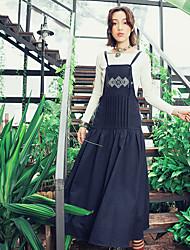 Aporia.As® Women's Strap Sleeveless Tea-length Dress-MZ02066