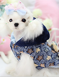 Dog Coat Blue / Yellow Winter / Spring/Fall Geometic Keep Warm Dog Clothes / Dog Clothing-Other
