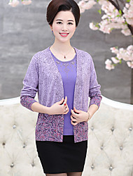 Women's Casual/Daily / Formal Simple Short Cardigan,Two piece suit