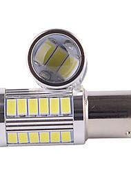 2pcs 5W 1156 5630 33SMD White Color Car Led Turn Signal Lights Brake Tail Lamps(DC12V)