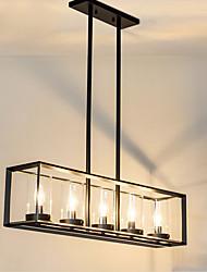5 Lampe suspendue ,  Traditionnel/Classique Peintures Fonctionnalité for Style mini MétalSalle de séjour / Chambre à coucher / Salle à