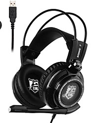 Somic G941C LED Stereo Over-ear PC Game Headset Intelligence USB Vibration Headphone 7.1 Sound with MIC Volume Control
