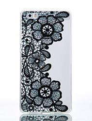TPU Material Black Chrysanthemum Pattern Cellphone Case for Huawei P9Lite/P9/P8Lite