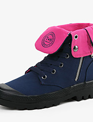 Women's Boots Spring/Fall/Winter Comfort/Combat Boots/Styles/Round Toe/Closed Toe/Flats Canvas Casual Flat HeelApplique