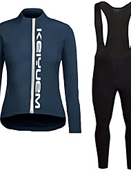 KEIYUEM®Spring/Summer/Autumn Long Sleeve Cycling Jersey+Long Bib Tights Ropa Ciclismo Cycling Clothing Suits #L81