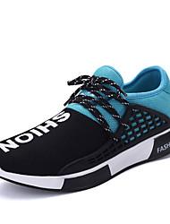 Femme-Décontracté-Bleu / Vert / Rouge-Talon Plat-Confort-Sneakers-Tulle