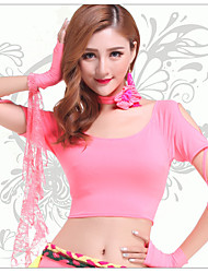Dance Accessories Neckwear Women's Spandex Flower(s) 1 Piece Peach Belly Dance Short Sleeve Natural Neckwear
