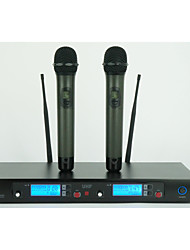 UHF Professional Doublue Metal handheld Wireless Microphone Wireless Karaoke Microphone