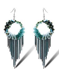 TIANSHE  Women'S    Korean fashion long Tassel Earrings Alloy  1 pair