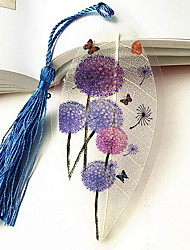 Purple Dandelion Vein Bookmark Romantic Gift (Random Color)