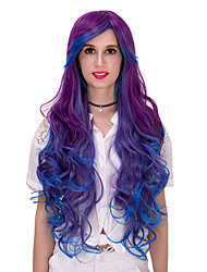 Purple blue gradient long hair wig.WIG LOLITA, Halloween Wig, color wig, fashion wig, natural wig, COSPLAY wig.