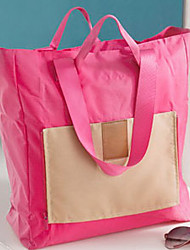 Unisex Shoulder Bag Nylon Fall Shopping Casual Sports Professioanl Use Outdoor Shopper Zipper Fuchsia Navy Blue Green Light Blue
