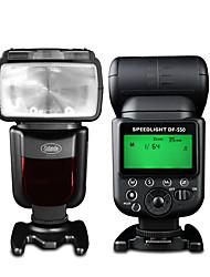 sidande df-550 Speedlight slr camera externe top flitslamp speedlight voor Canon / Nikon / Pentax / fujifilm / samsung