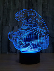 Schlümpfen Touch Dimm 3d Nachtlicht 7colorful Dekoration Atmosphäre Lampe Neuheit Beleuchtung Weihnachten Licht geführt
