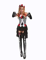 Costumes Ghost / Zombie Halloween / Carnival / Oktoberfest White / Black Vintage TeryleneDress / Gloves / Socks
