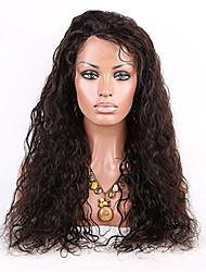 100% cheveux vierges couleur naturelle vague lâche perruque de dentelle de style humaine avant casquette avec des cheveux de bébé