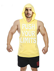Men's Sleeveless Running Vest/Gilet Hoodie Shirt Sweatshirt Tank TopsBreathable Quick Dry Static-free Lightweight Materials Sweat-wicking