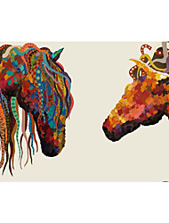 Non-woven Large Mural Wallpaper Colorful Horse Art Wall Decor Wall Paper