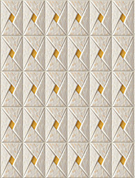 JAMMORY Art DecoWallpaper For Home Wall Covering Canvas Adhesive required Mural Imitation Tile3XL(14'7''*9'2'')