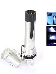 Микроскоп Бижутерия / Ремонт часов Высокое разрешение / Держать в руке / LED 60X 8mm Стандартный Пластик