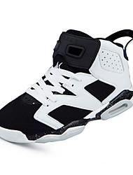 Herren-Sneaker-Sportlich-PU-Plateau-Komfort-Schwarz Weiß Orange