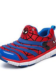 Unissex-Tênis-Conforto Bailarina Botas da Moda-Rasteiro-Azul Rosa Vermelho-Couro-Ar-Livre Casual Para Esporte
