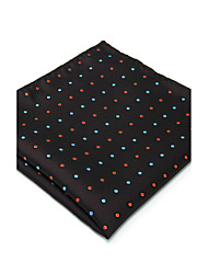 For Men 100% Silk Blue Brown Dots Men's Pocket Square New Handkerchief Jacquard Woven Dress Business Wedding