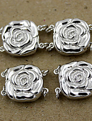 DIY Jewelry Silver Rose Charm for Bracelet