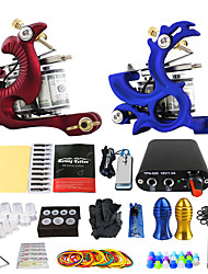 Solong Tattoo Beginner Kit 2 Rotary Tattoo Machine with Free Gift of 20 Tattoo Inks