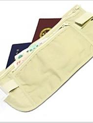 viajar cerca ultrafino ajuste bolsillos ocultos / documentos al aire libre del bolso del recorrido de la carpeta oculta antirrobo