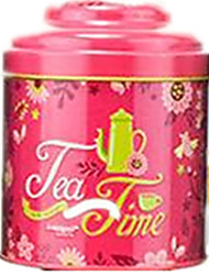 Red Color Metal Material Packaging & Shipping Tea Tin